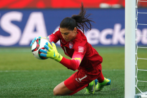 Hope Solo made some great saves and helped the U.S. to win