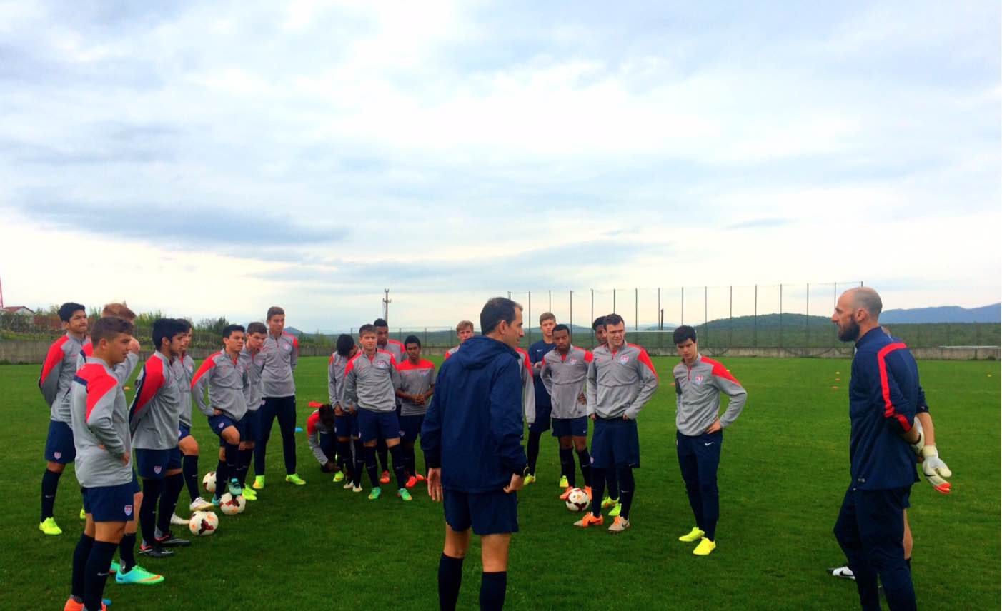 U.S. U-18 MNT in Carson, California for camp and NTC Invitational Tournament