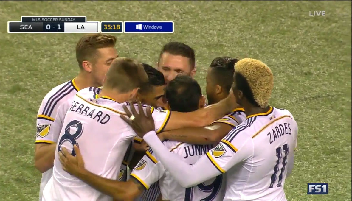 LA Galaxy clinch a playoff berth with 1-1 draw with Seattle