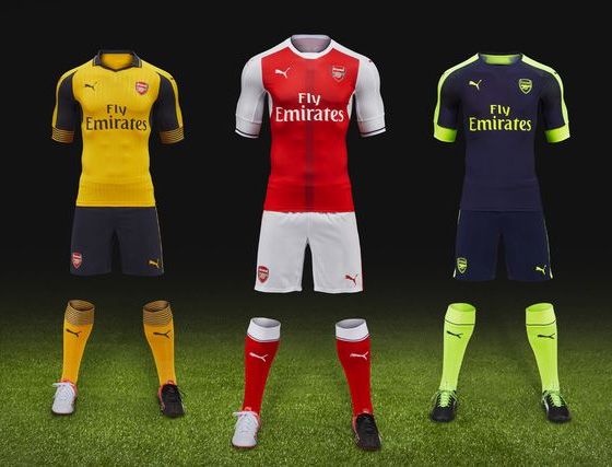 Arsenal 2016/17 Kits