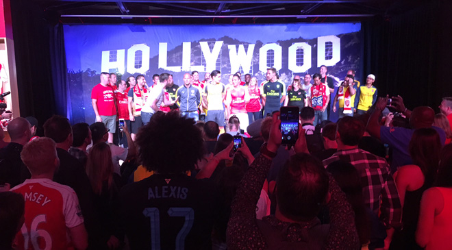 Arsenal Kit Launch in LA