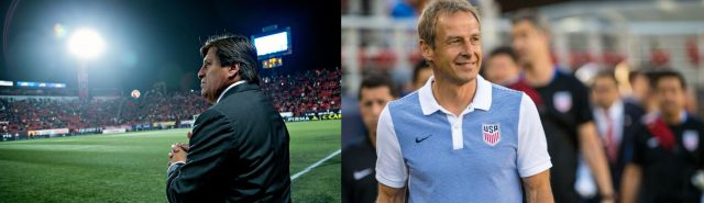 Two very different managers in Miguel Herrera and Jurgen Klinsmann both hold important keys to the doors of Arriolas young career.
