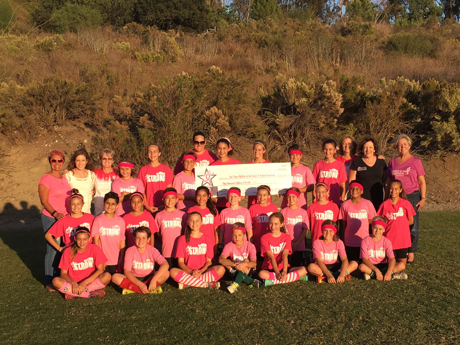 Local Youth Soccer Clubs Support Breast Cancer Awareness Month