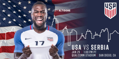 United States Men's National Team to Open 2017 in San Diego