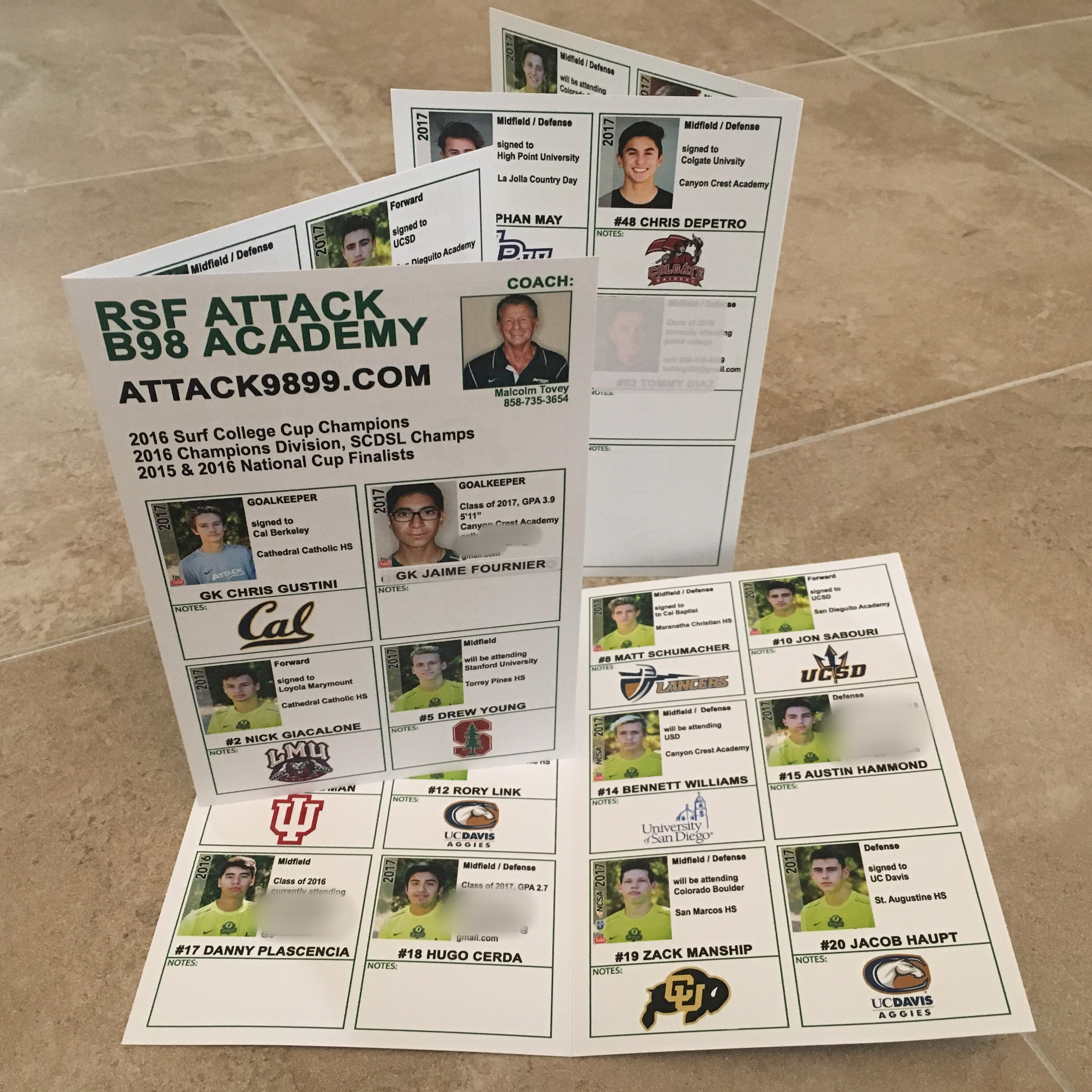 college showcases anatomy of the perfect recruiting flyer