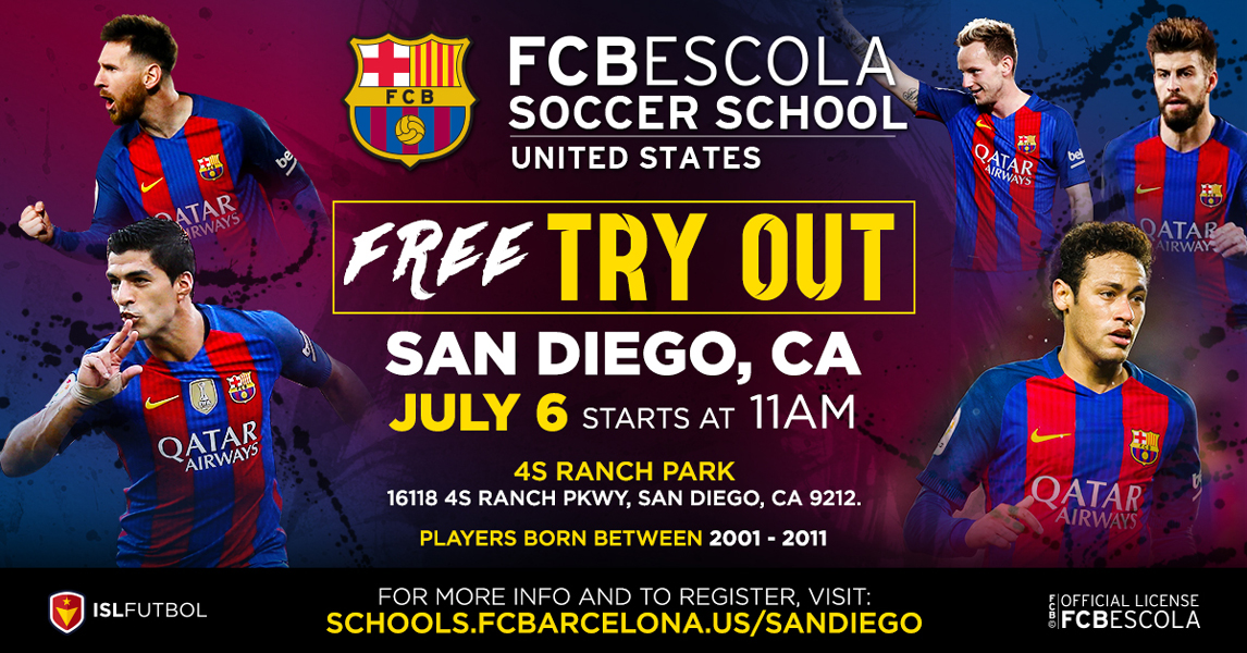 FCBEscola Soccer School of San Diego Hosts July 6th Tryouts