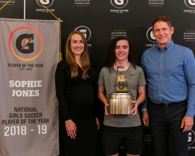 SOPHIE JONES NAMED GATORADE NATIONAL GIRLS SOCCER PLAYER OF THE YEAR